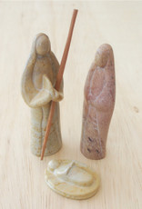 Soapstone Natural 3-Piece Nativity