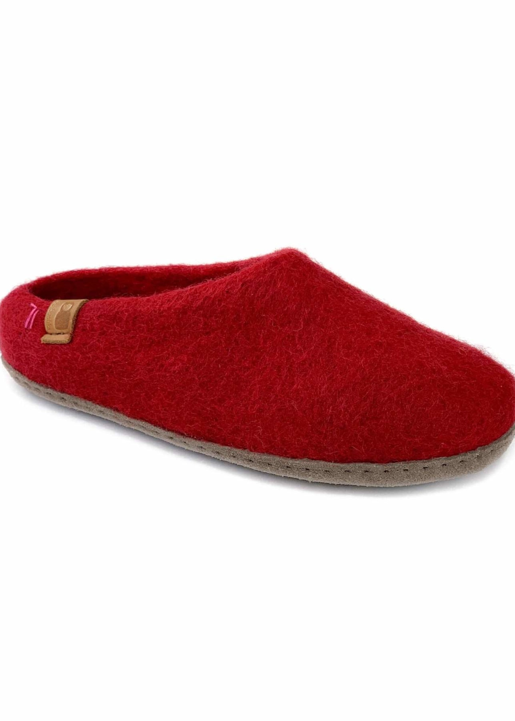Baabushka Red Wool Slippers