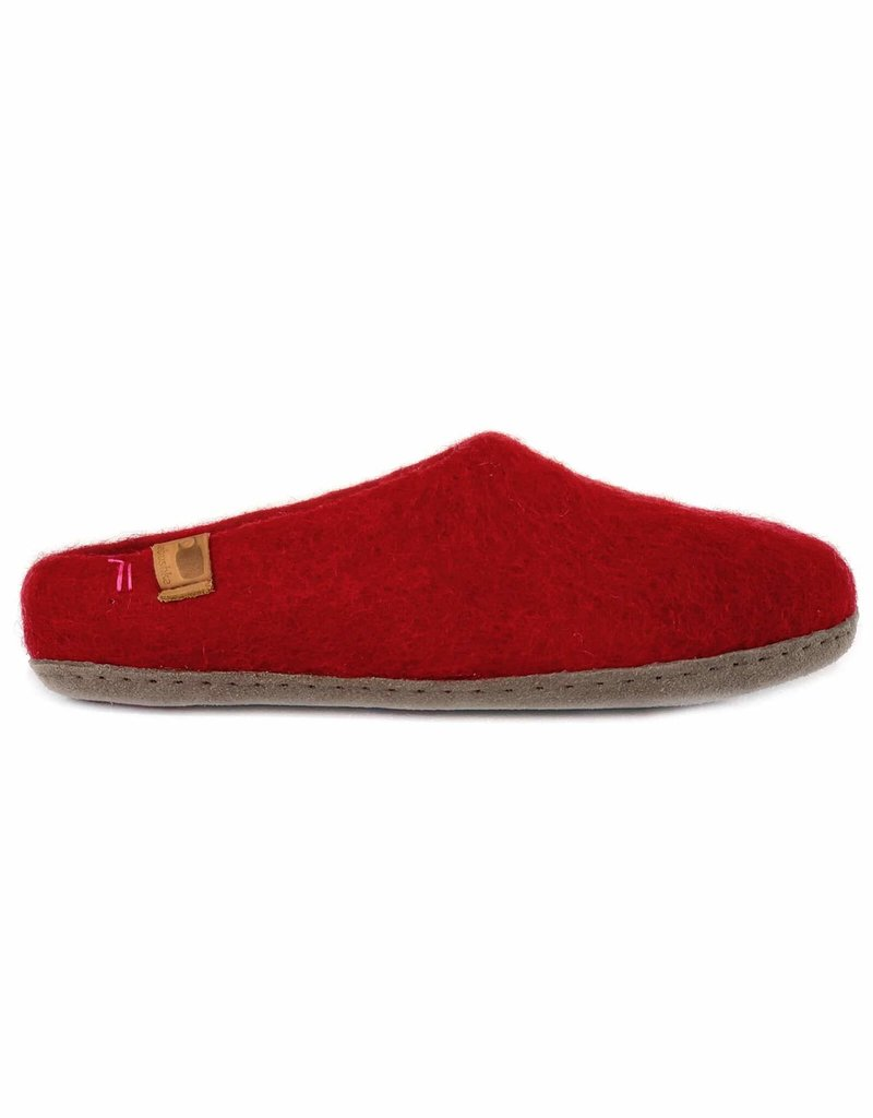Baabushka Red Wool Slippers