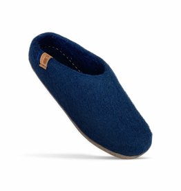 Baabushka Navy Wool Slippers