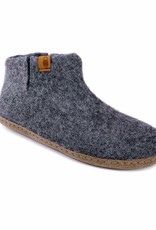 Baabushka Dark Grey Wool Booties