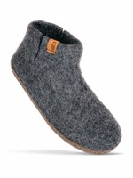 Baabushka Dark Grey Wool Booties