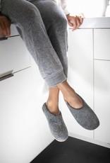 Baabushka Light Grey Wool Slippers