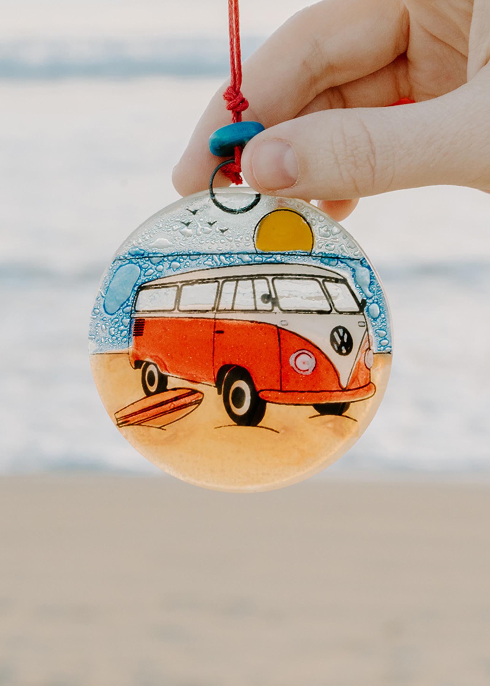 Surfer Van Ornament