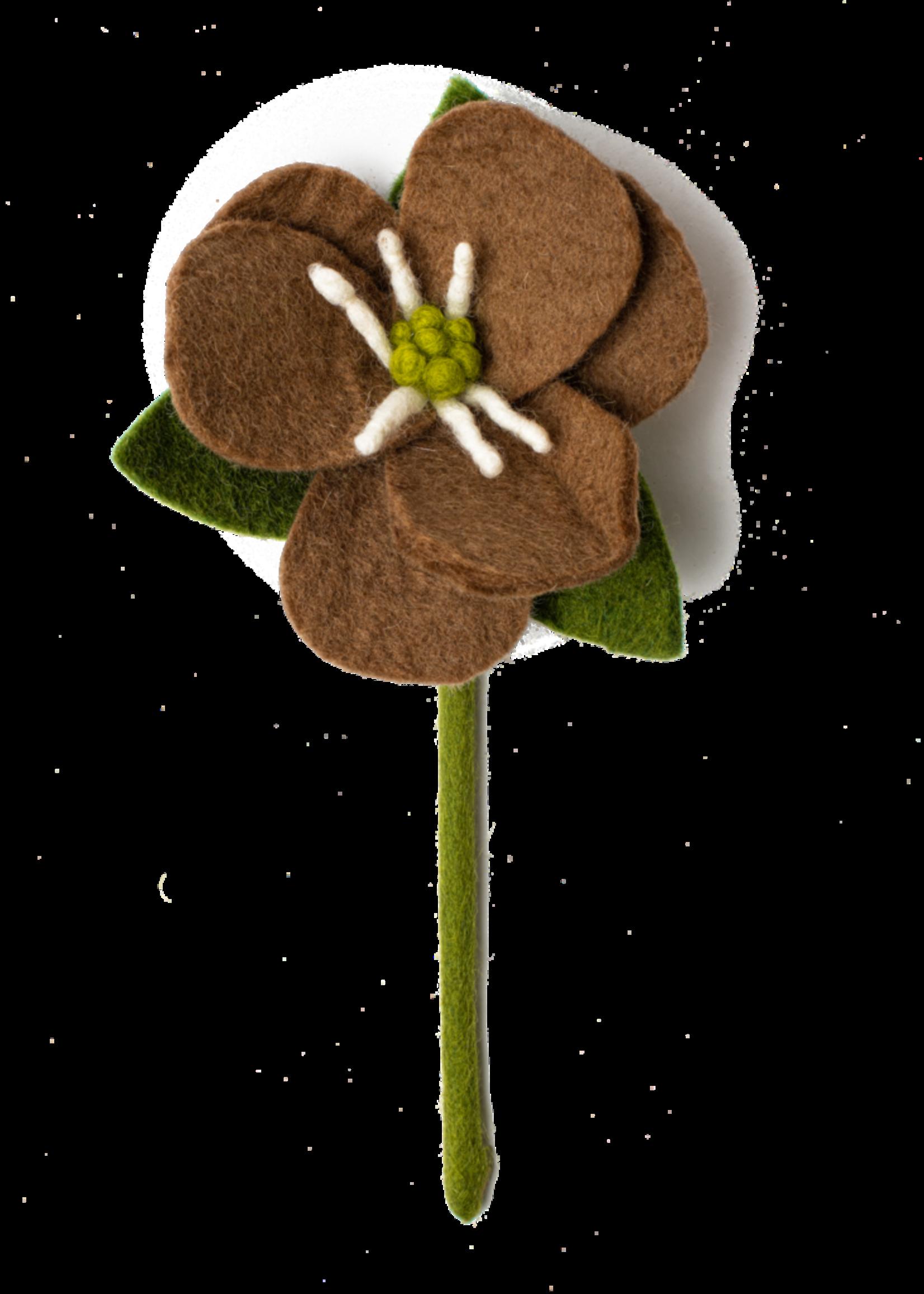 Global Goods Partners Felt Hepatica Flower
