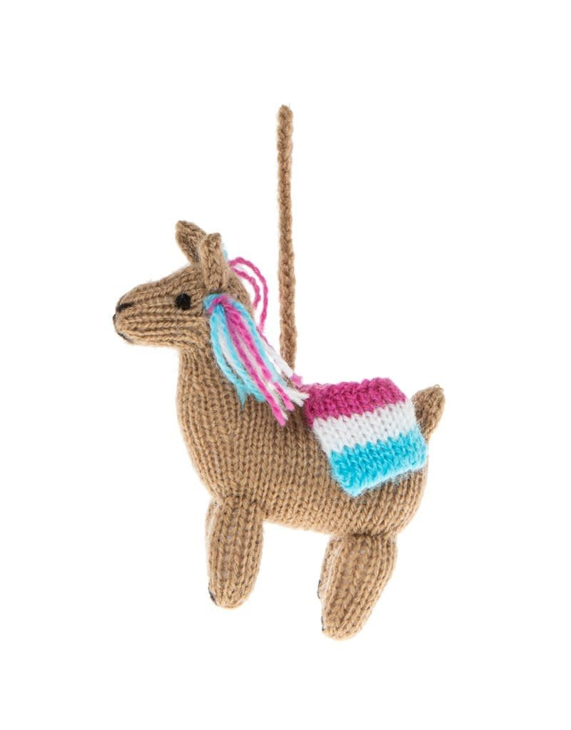 Global Goods Partners Colorful Llama Ornament
