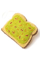 Global Goods Partners Felt Avocado Toast Ornament