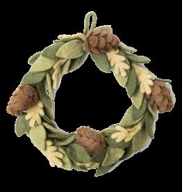 Global Goods Partners Felt Pinecone Wreath