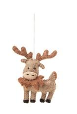 Global Goods Partners Felt Moose Ornament