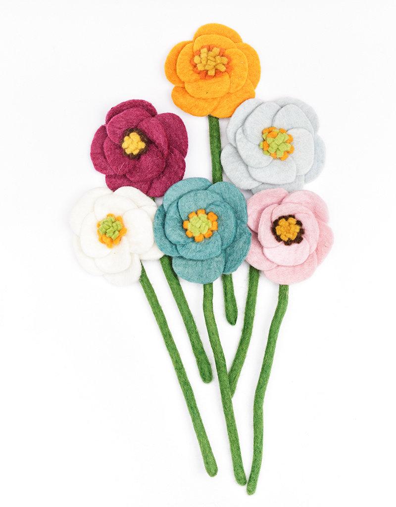 Global Goods Partners Felt Poppy Flower