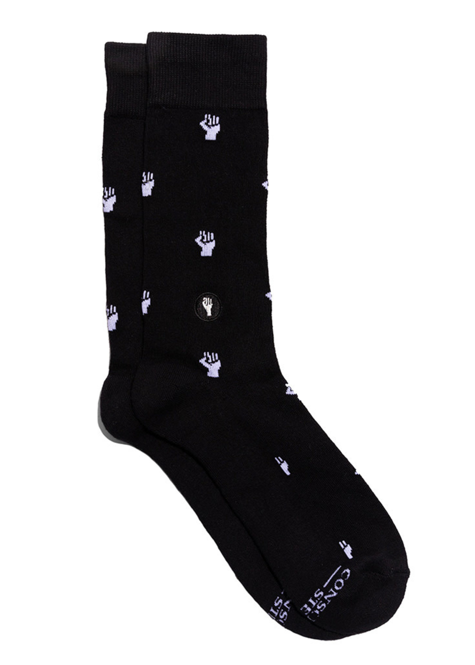 Conscious Step Men's Socks That Fight For Equality [black]