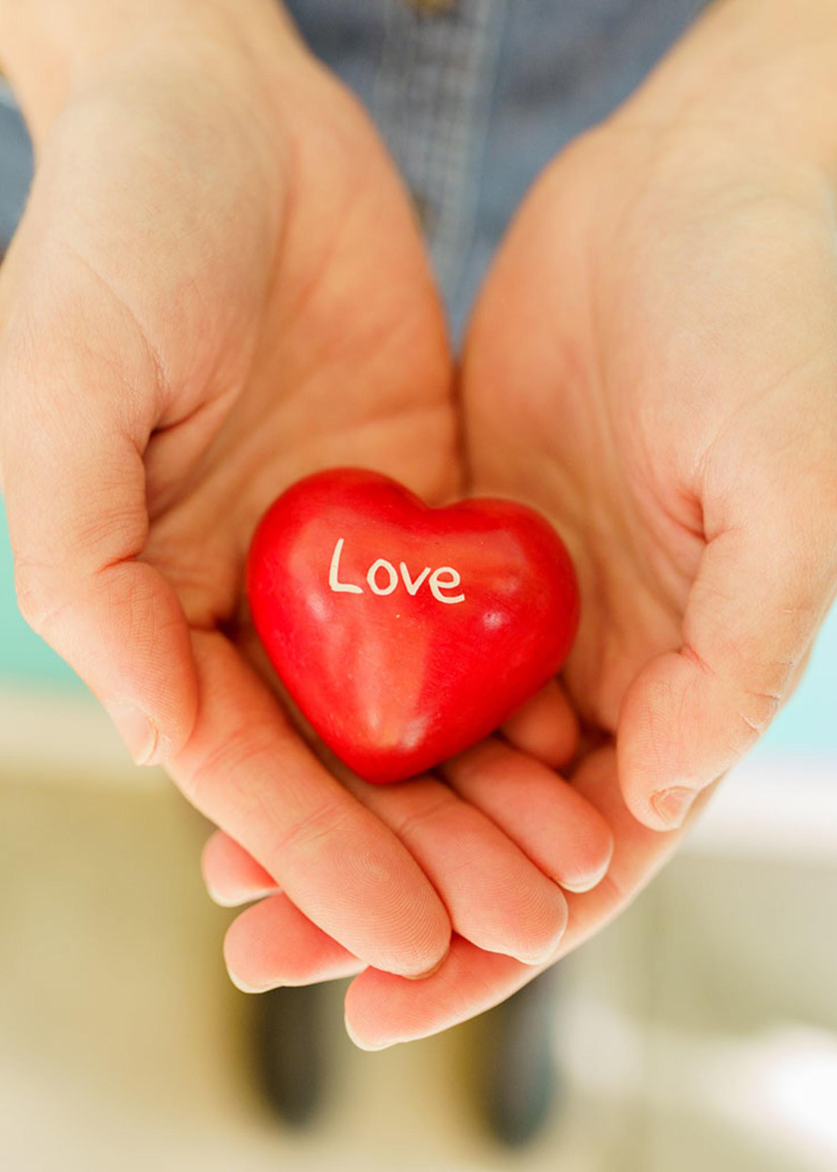 Soapstone Word Heart