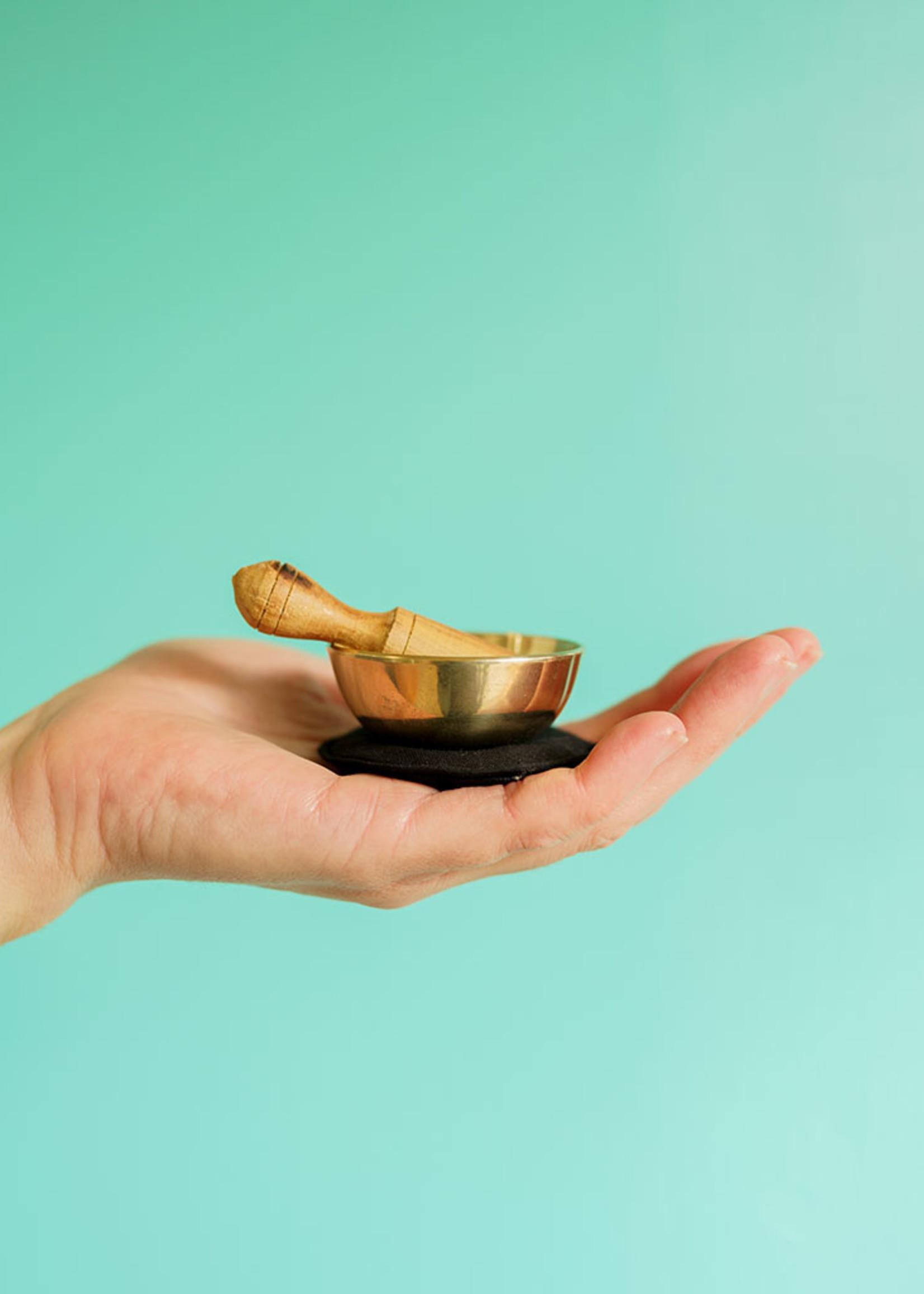 dZi Dark Blue Third Eye Chakra Mini Meditation Bowl