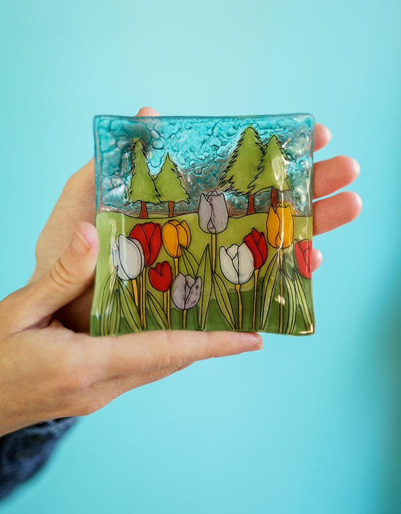 Tulips Square Dish