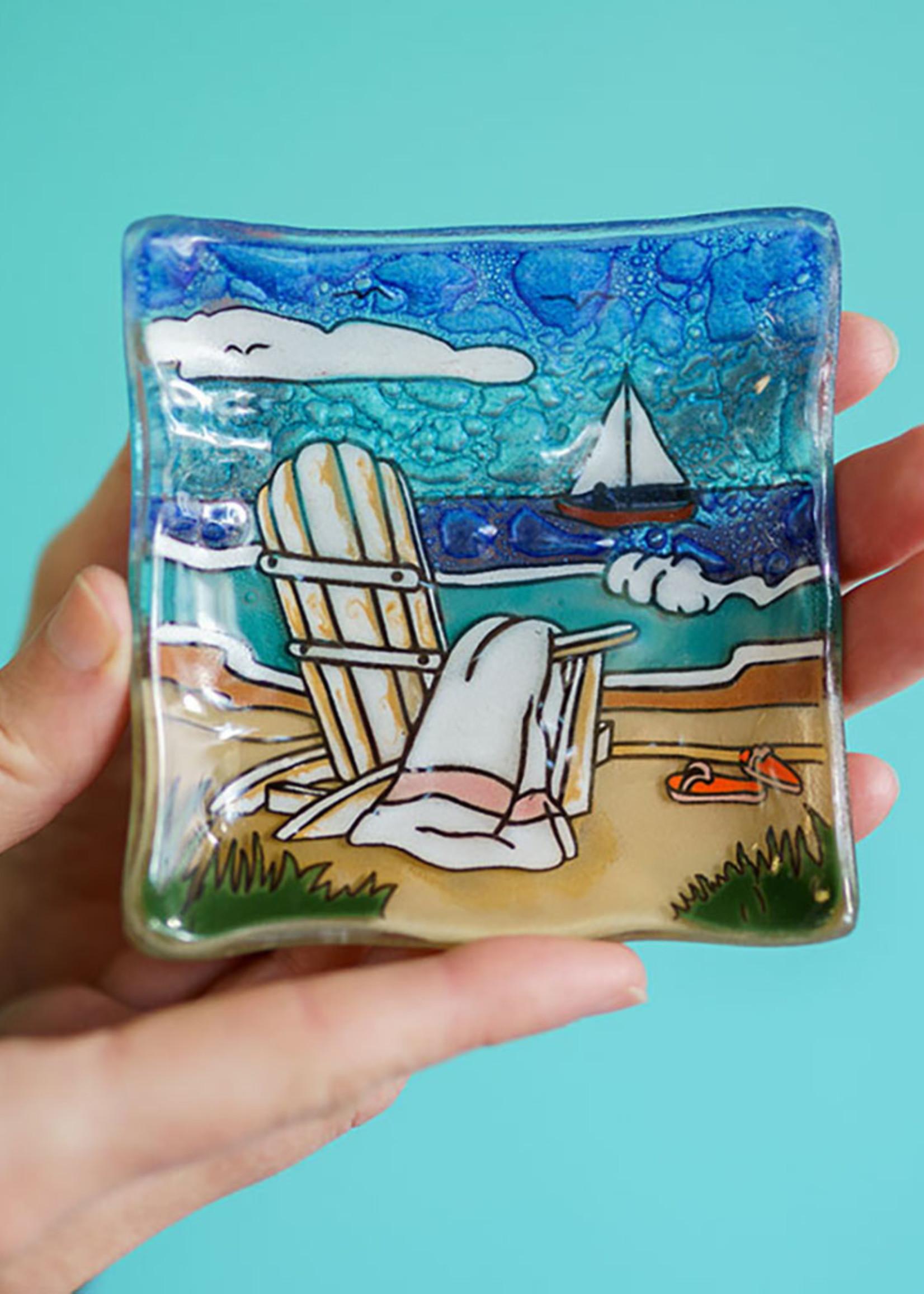 Beach Scene Square Dish