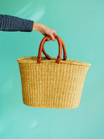 Natural Oval Shopper Basket
