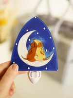 Dogs & Moon Night Light