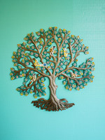 Painted Paradise Tree Metal Art