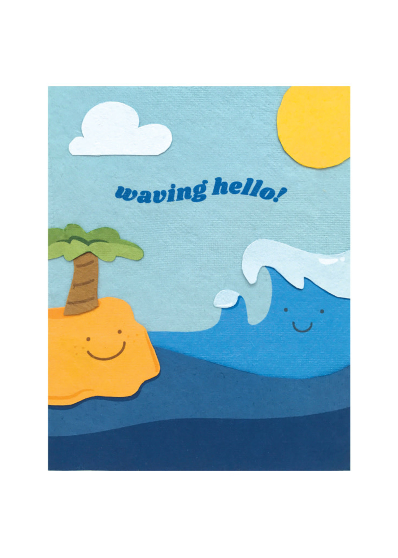 Good Paper Waving Hello Card