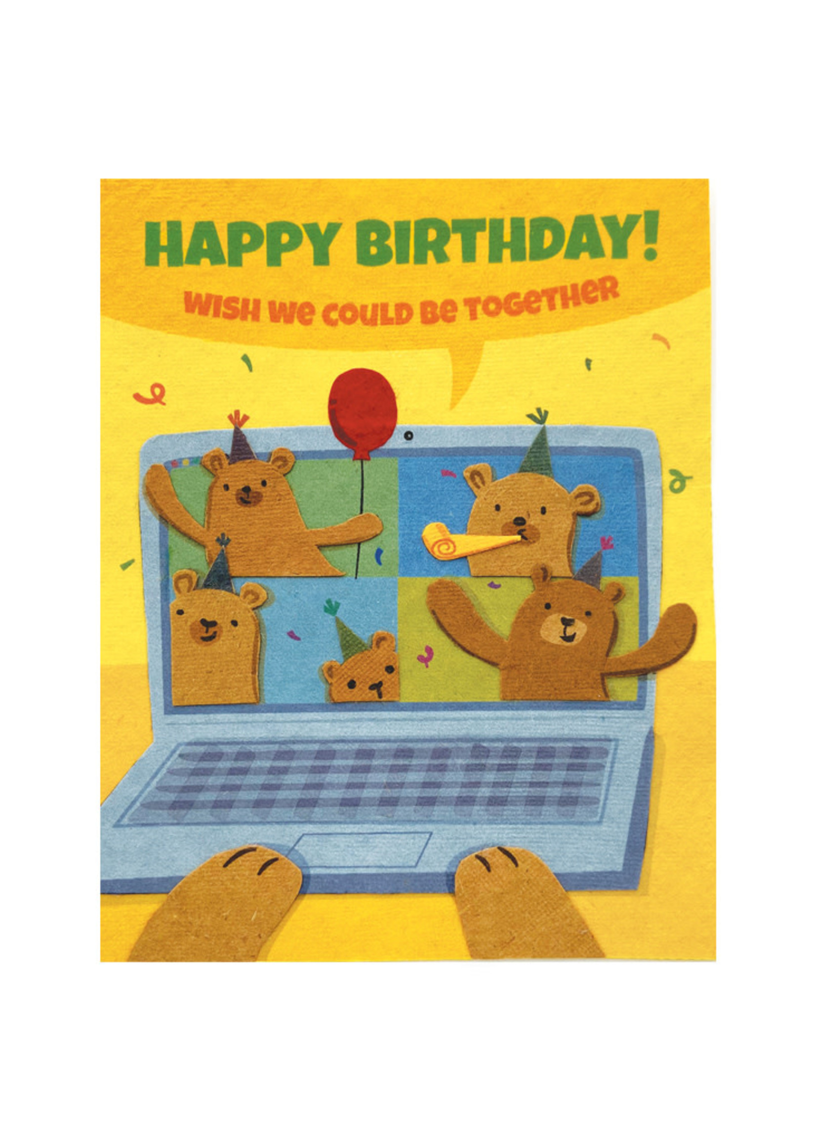Good Paper Zoom Birthday Card