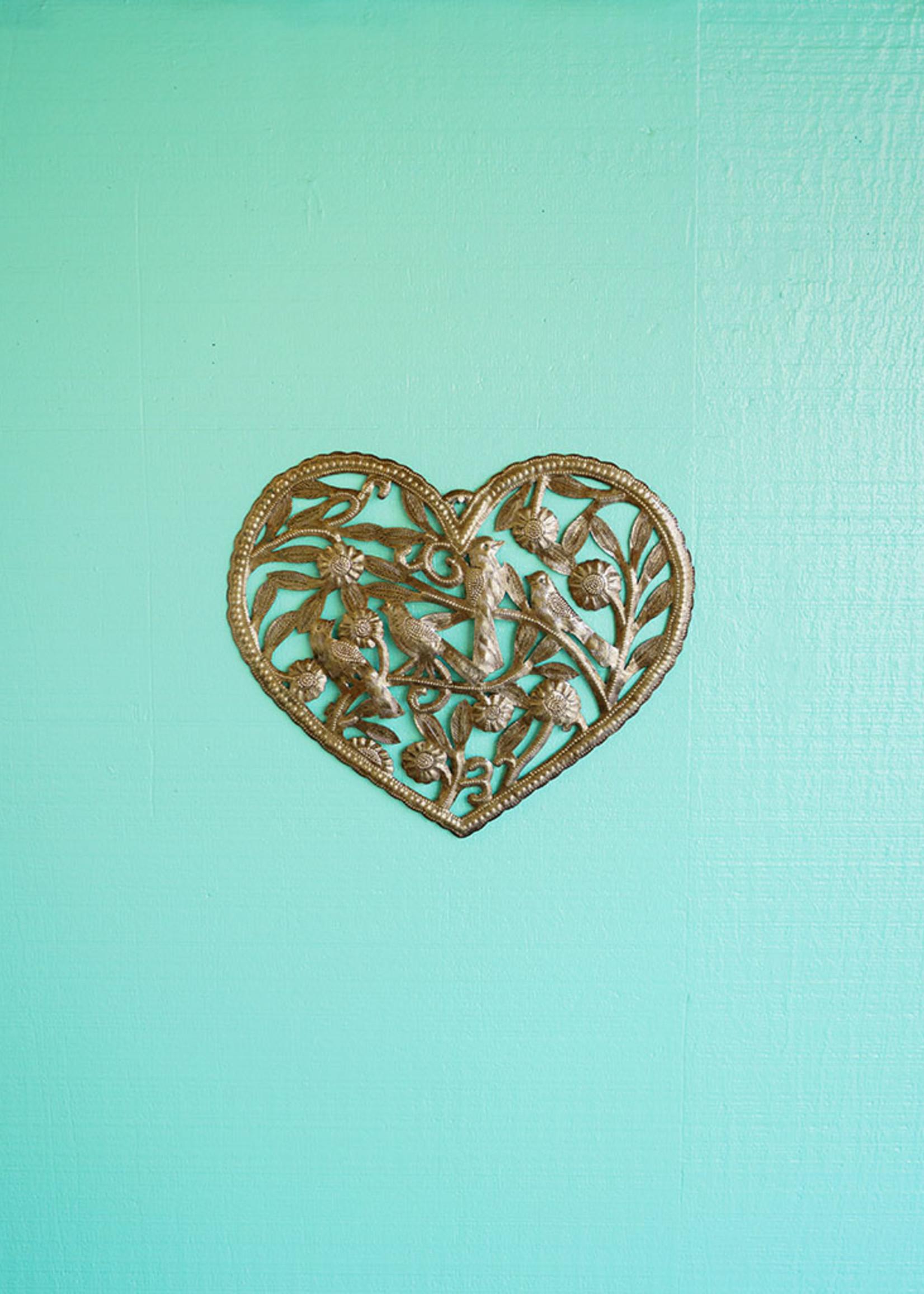 Beyond Borders Garden Heart Metal Art
