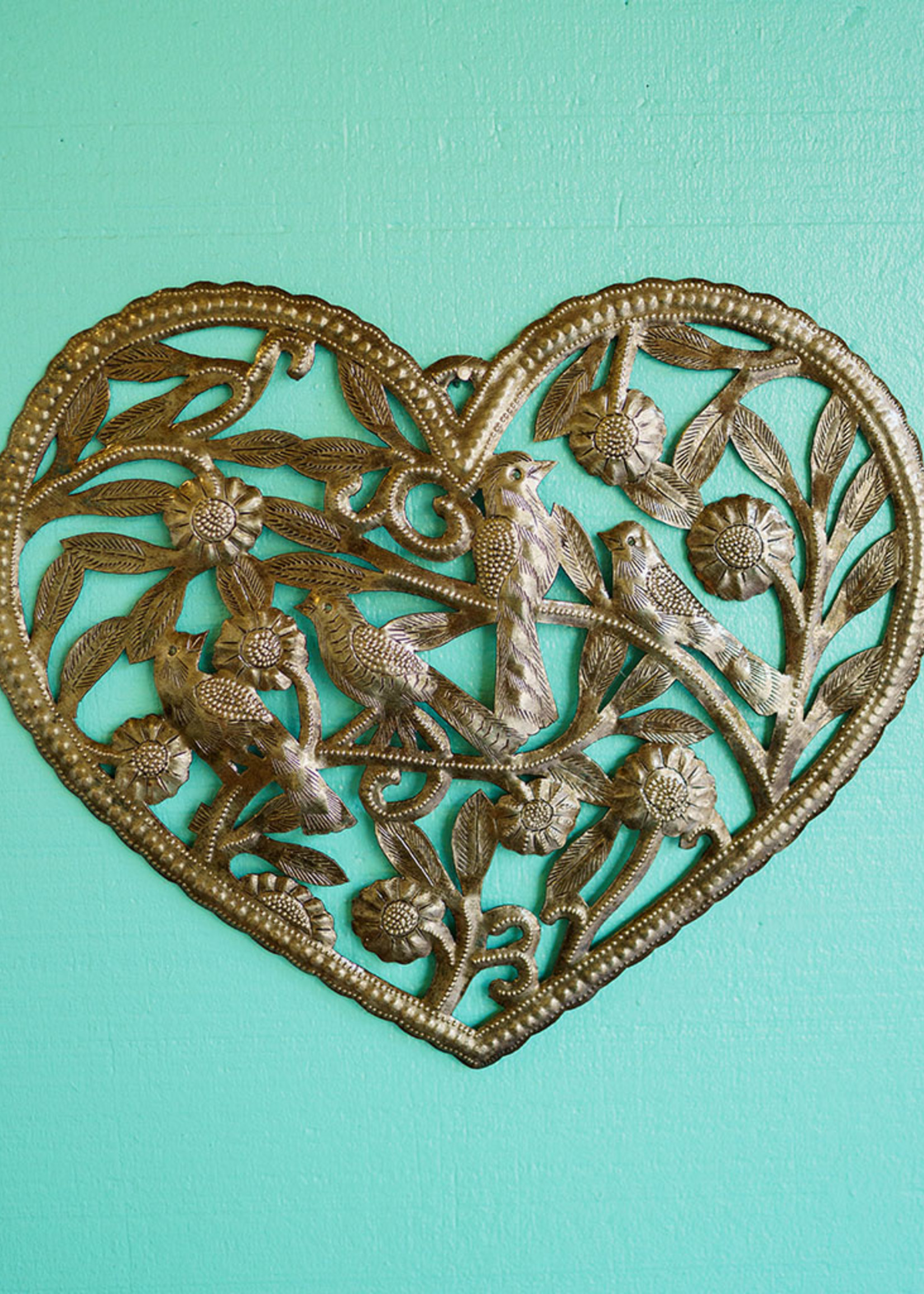 Garden Heart Metal Art