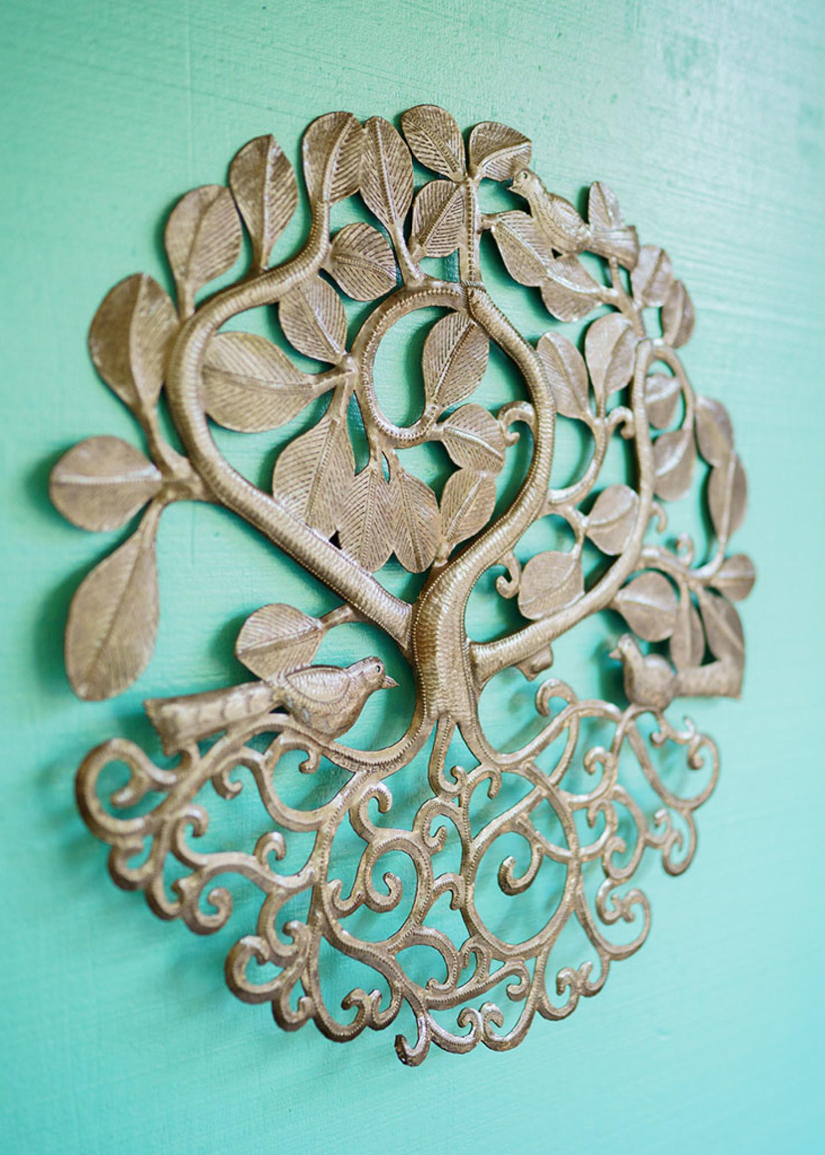 Beyond Borders Kabbalah Tree Metal Art