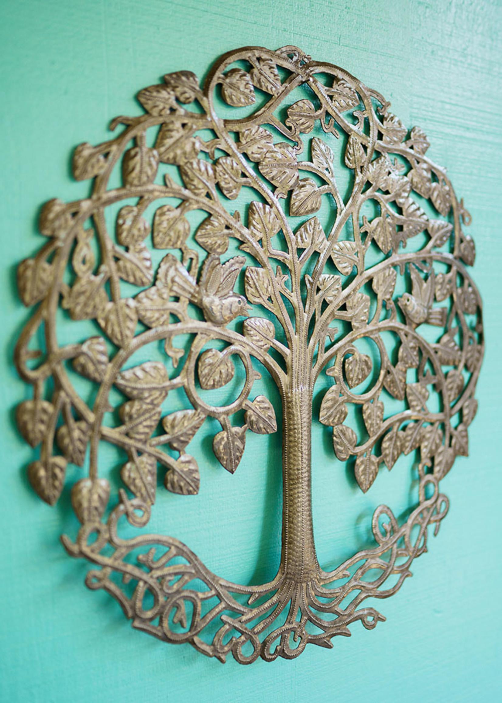 Circle Tree of Life Metal Art