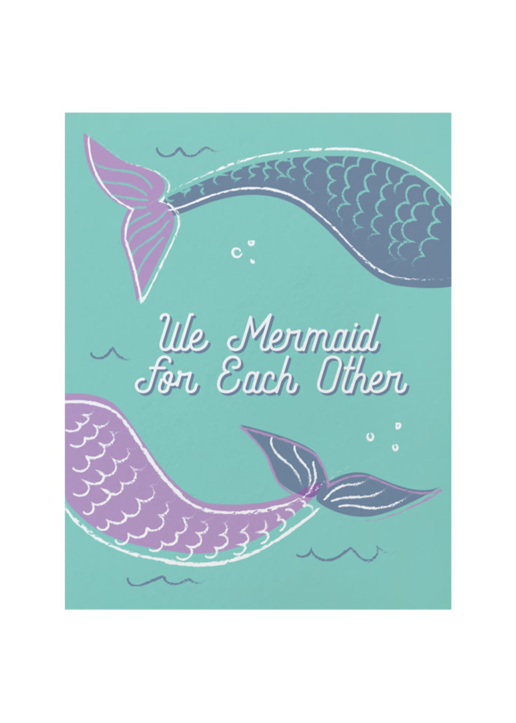 Good Paper Mermaid Love Card