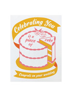 Good Paper Piece of Cake Wedding Card