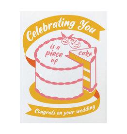 Good Paper Piece of Cake Wedding Card