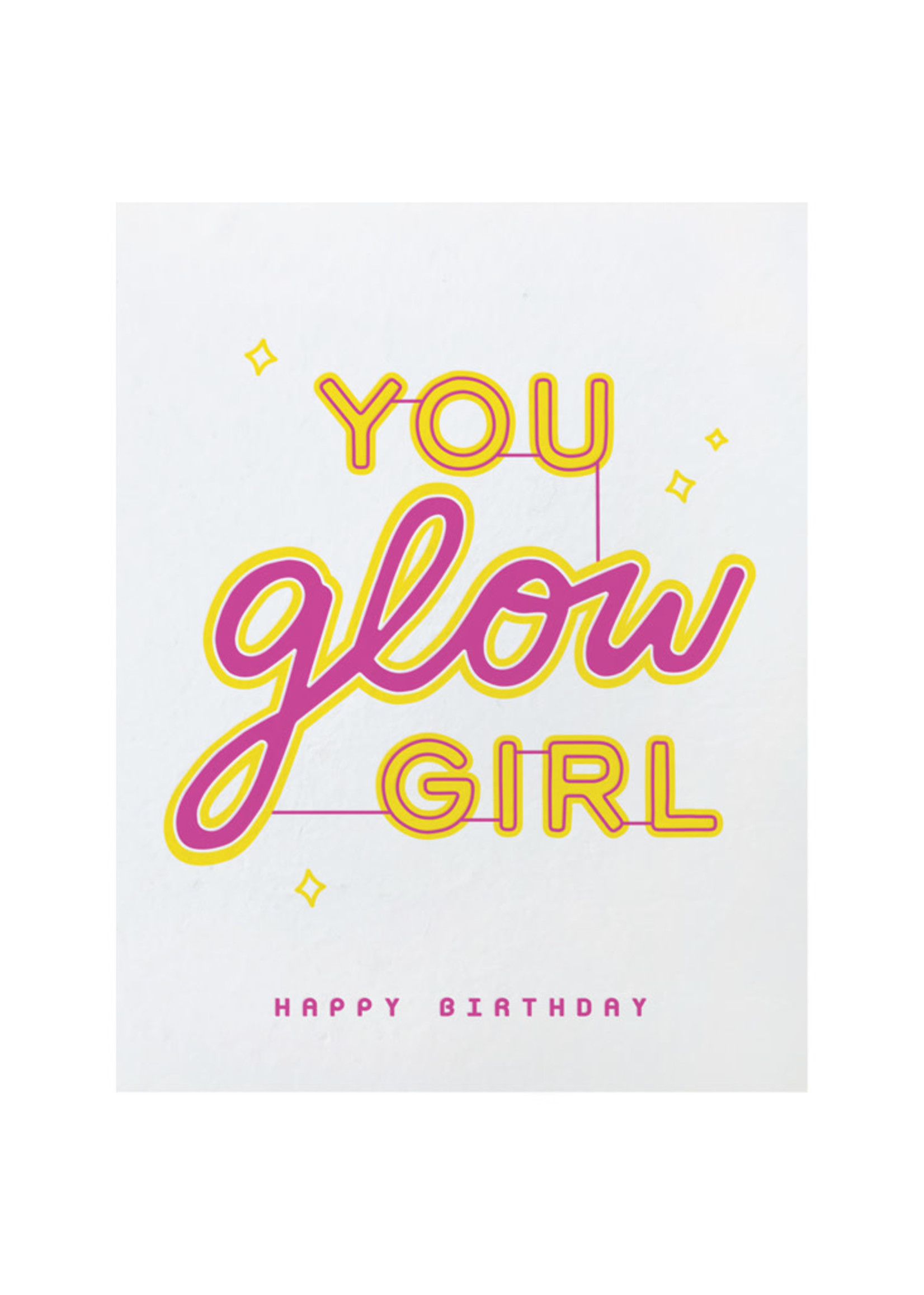 Good Paper Glow Girl Birthday Card