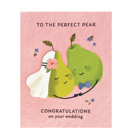 Good Paper Perfect Pear Wedding Card
