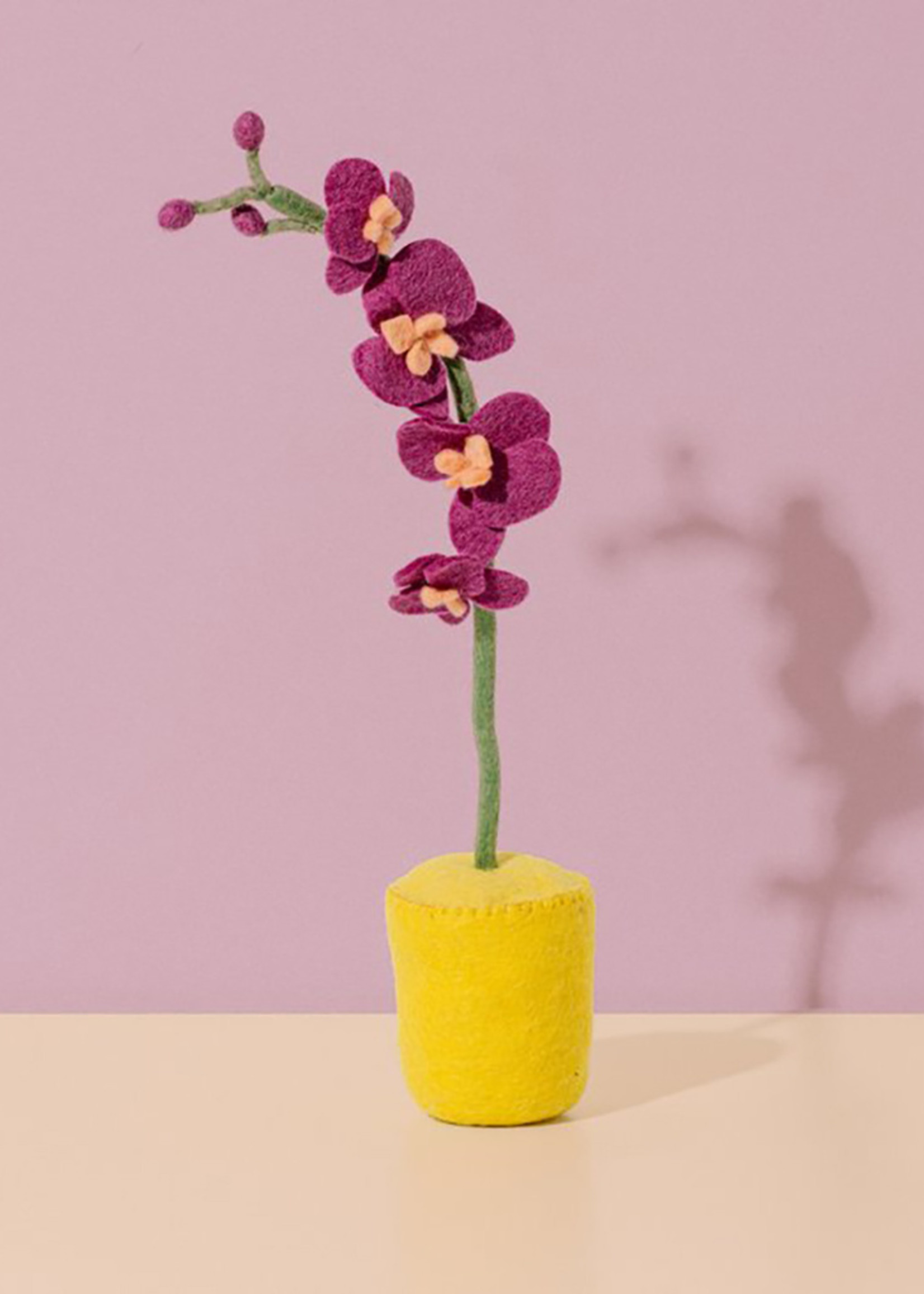 Global Goods Partners Felt Orchid Flower Pot