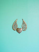 Beyond Borders Assorted Winged Heart Metal Art