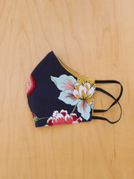Malia Designs Navy Bright Floral Face Mask