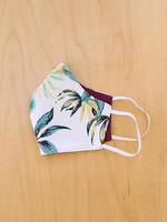 Malia Designs White Tropical Face Mask
