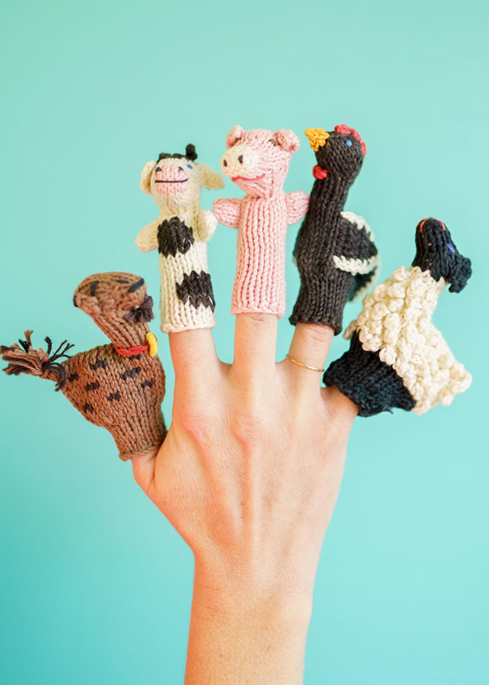 Lucuma Designs Farm Animals Finger Puppet Set