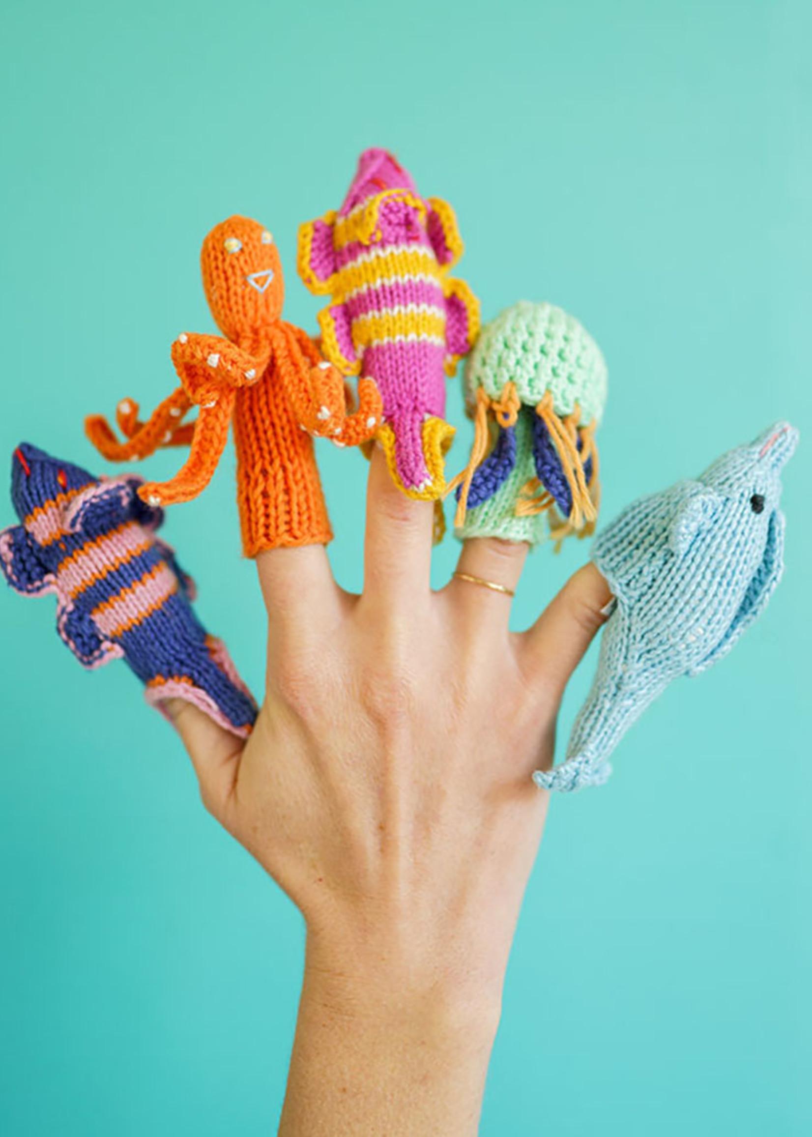 Lucuma Designs Sea Animals Finger Puppet Set