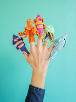 Lucuma Designs Sea Animals Finger Puppet Set