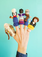 Lucuma Designs Assorted People Finger Puppet Set