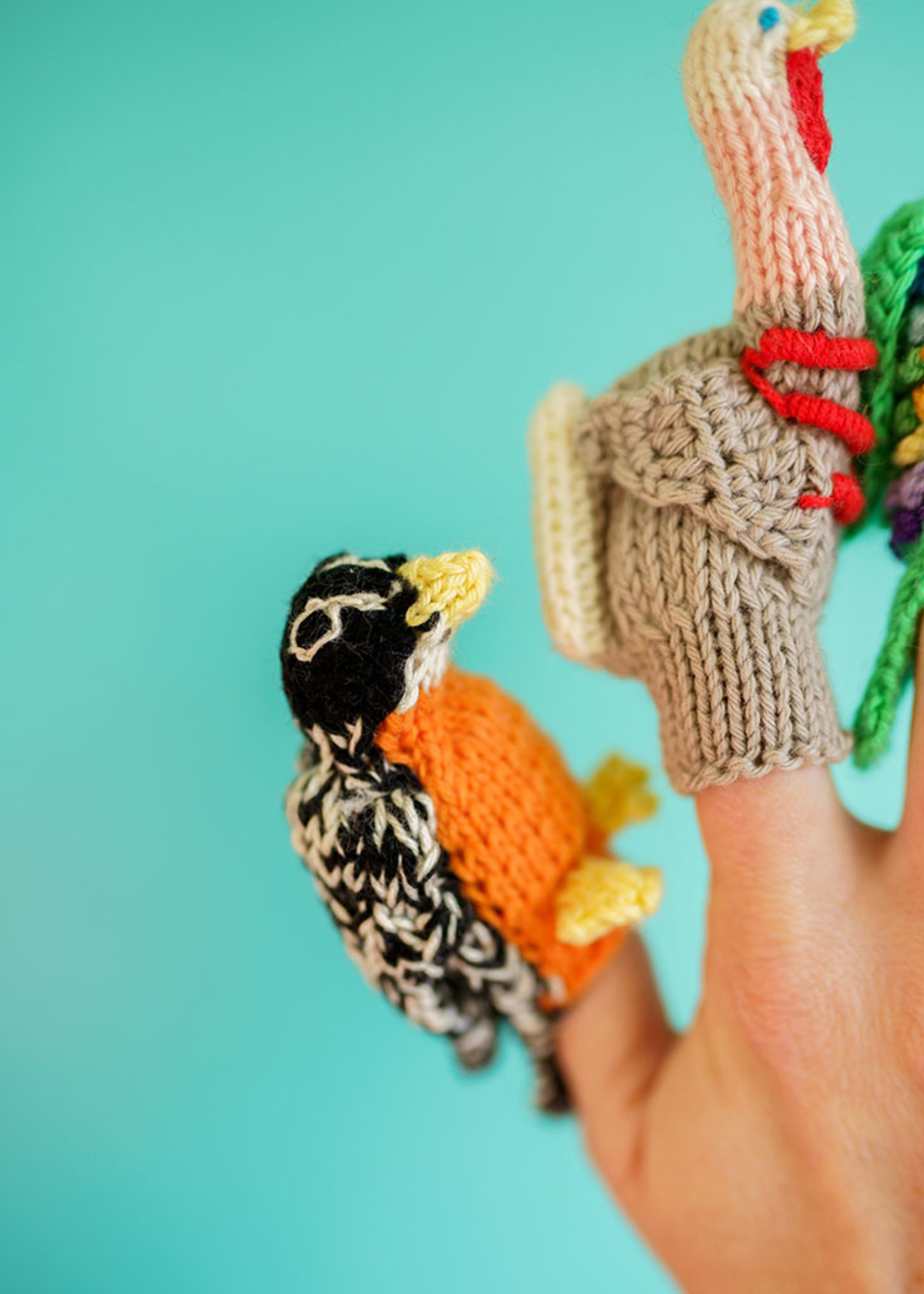 Lucuma Designs Assorted Birds Finger Puppets