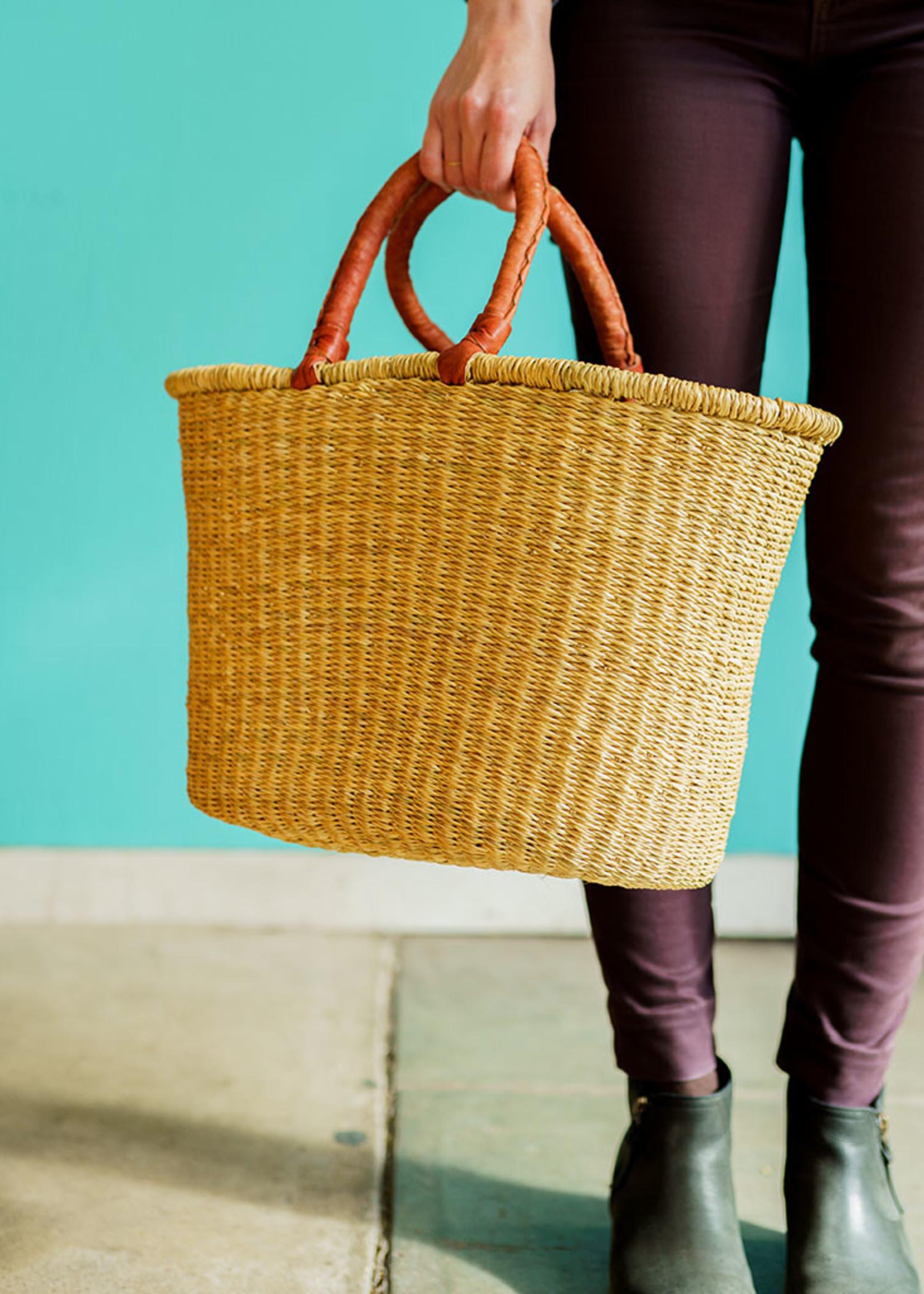 Natural Oval Shopper Basket
