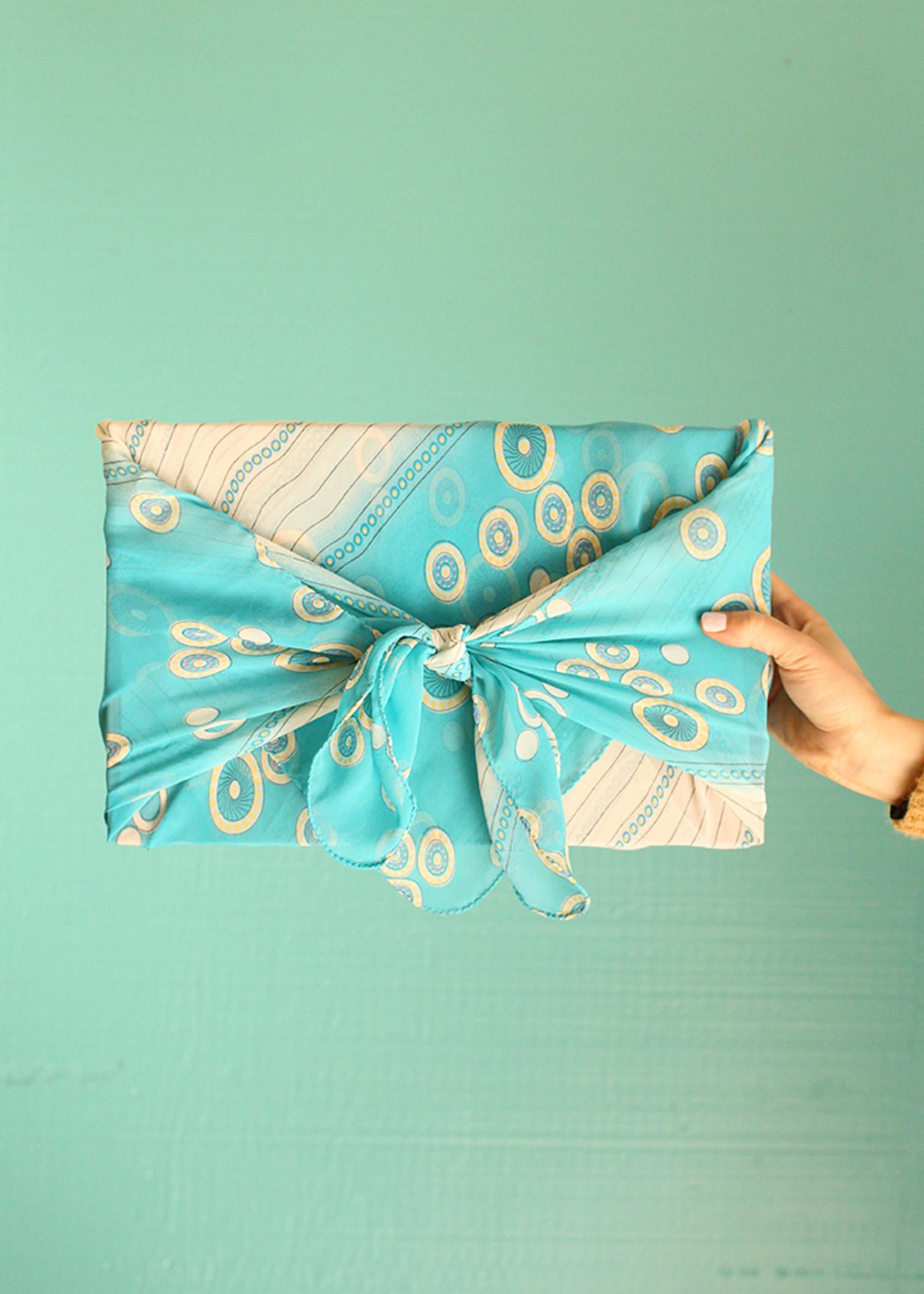 Sari Fabric Wraps - Set of 6
