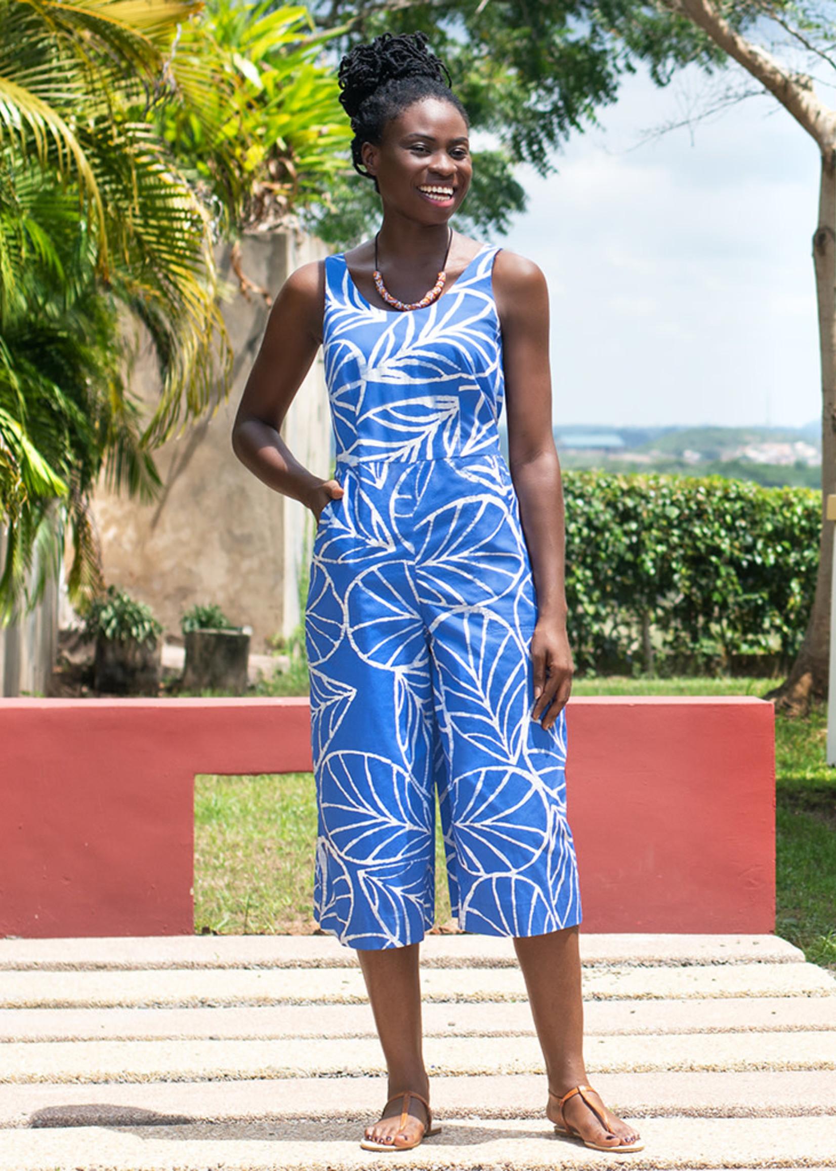 Global Mamas Canopy Blue Jumpsuit