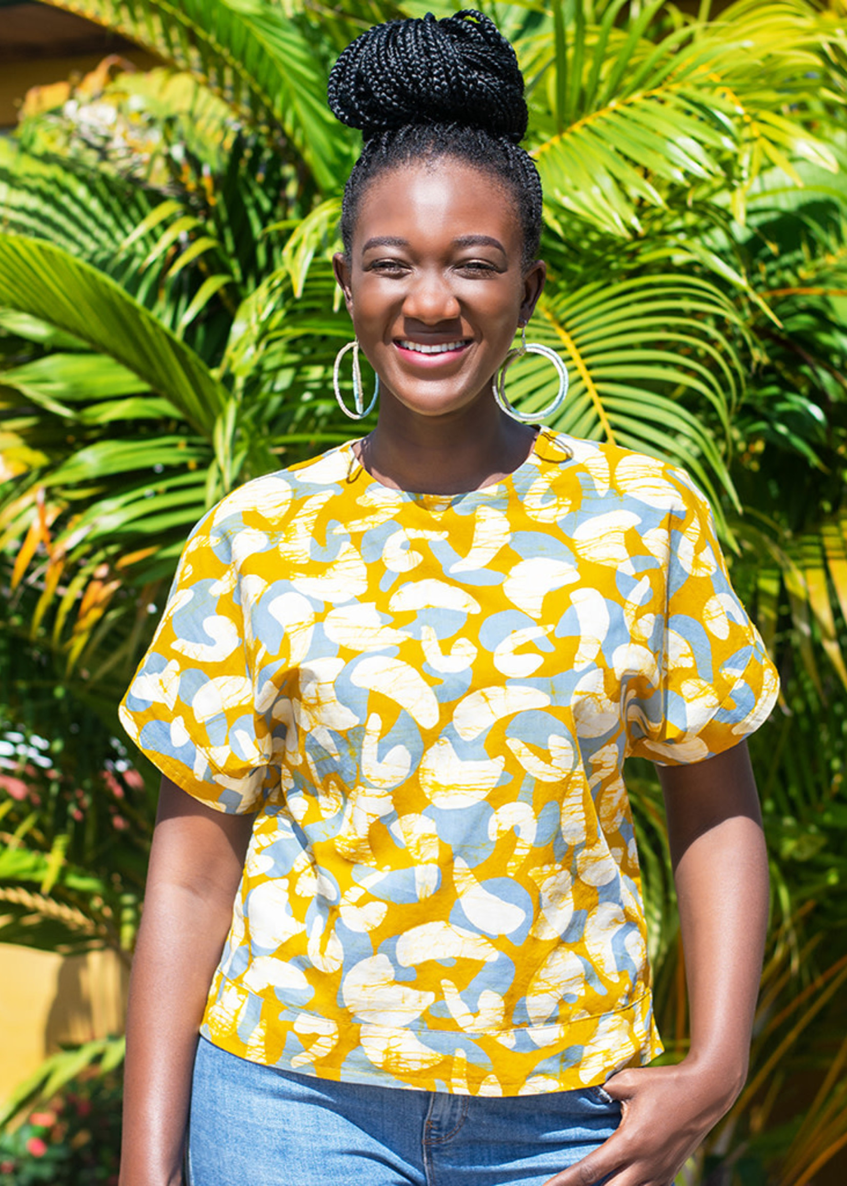Global Mamas Mod Mustard Crew Blouse