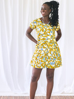 Global Mamas Button Front Mod Mustard Dress