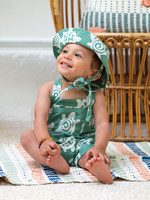 Global Mamas Sage Turtle Baby Romper