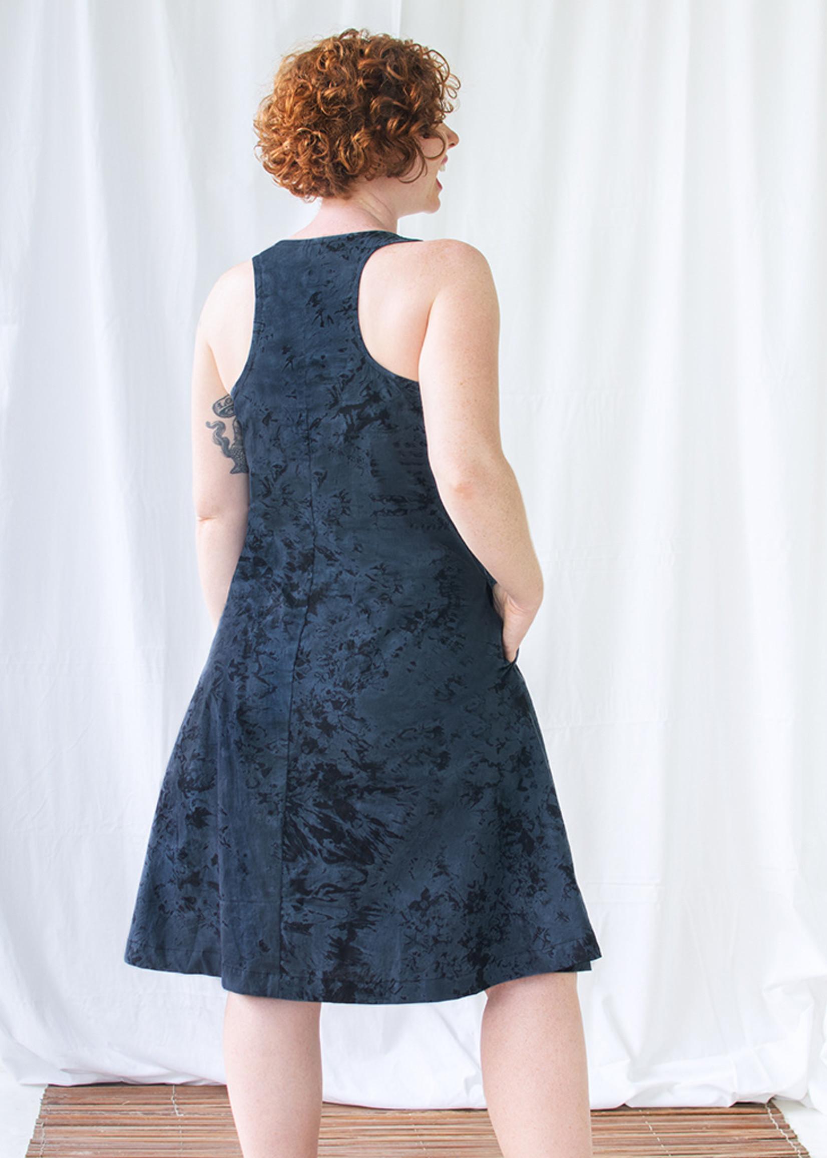 Global Mamas Marble Black Oaklynn Dress