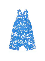 Global Mamas Blue Bikes Baby Romper